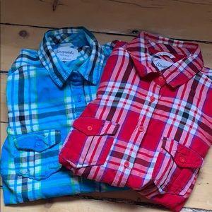 Two Aeropostale Soft Flannel Size M